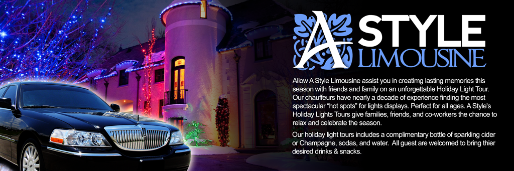 A Style Limousine Holiday Lights